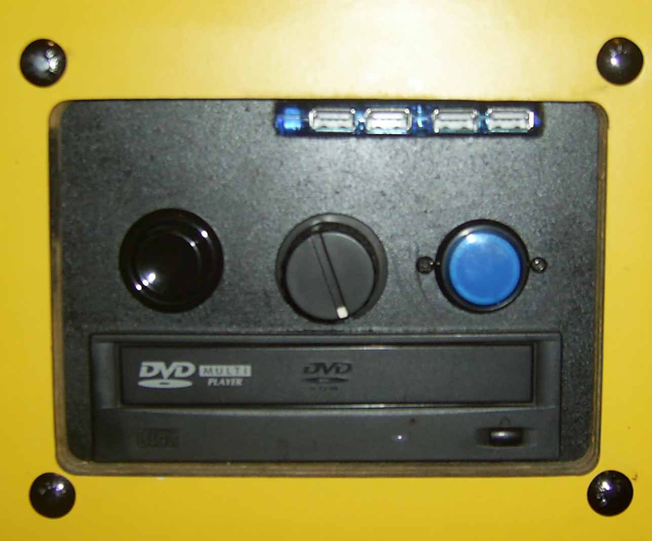 Control panel with DVD player